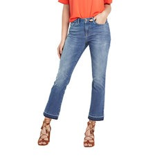 V By Very Frayed Hem Cropped Kickflare Jeans