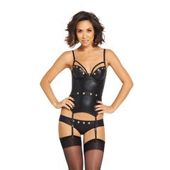 Myleene Klass Eyelet Detail PU Basque