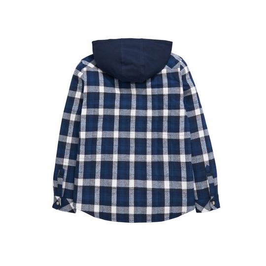 V By Very Hooded Heavyweight Check Shirt Shacket