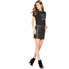 V By Very Coated Studded Mini Skirt
