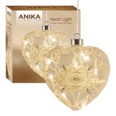 Glass Heart LED Light