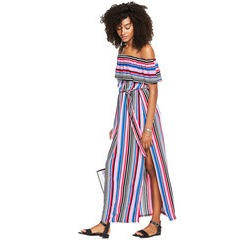 V By Very Frill Bardot Maxi Dress