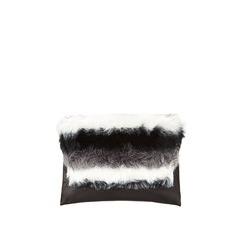 V By Very Fur Top Envelope Clutch