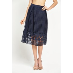Warehouse Grid Lace Skirt