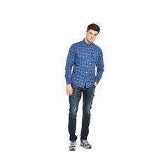 V By Very Long Sleeved Window Pane Check Shirt