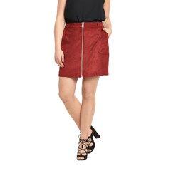 So Fabulous! Suedette Zip Through Skirt
