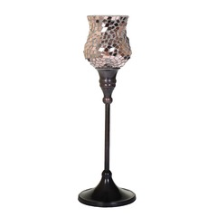 Mosaic Glass Candle Holder - Large