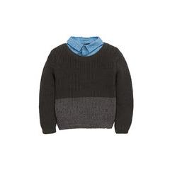 Mini V By Very Boys Mock Layer Shirt Jumper