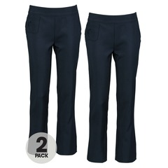 Top Class Girls 2 Pack Pull On Embellished Trousers
