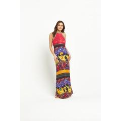 V by Very Crochet Bodice Jersey Maxi Dress