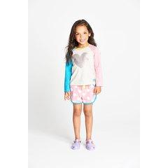 Ladybird Toddler Girls Heart Sweatshirt with Jersey Shorts