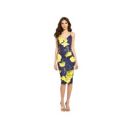 AX Paris V-Neck Strappy Floral Print Bodycon Midi Dress