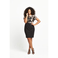V By Very Floral Sequin Ponti Skirt Dress