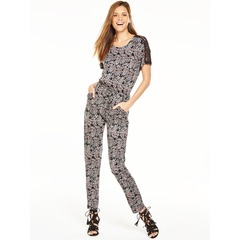 V By Very Lace Shoulder Jumpsuit