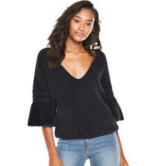 V by Very Fluted Sleeve Jumper