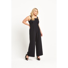 So Fabulous D Ring Fasten Wide Leg Jumpsuit