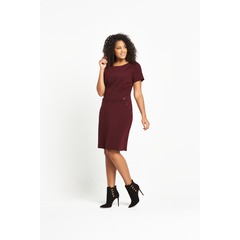 V By Very Curve Button Detail Ponte Dress