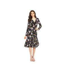 Warehouse Butterfly Print Silk Dress