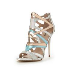 Carvela Gum Multistrap Metallic Sandals