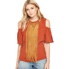 V By Very Fringed Collar