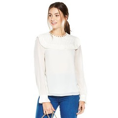 V By Very Pleated Bib Front Blouse