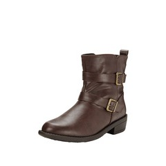 V by Very College Strappy Buckle Boots