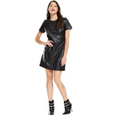 V By Very Leather A Line Dress