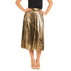 Myleene Klass Metallic Pleated Skirt
