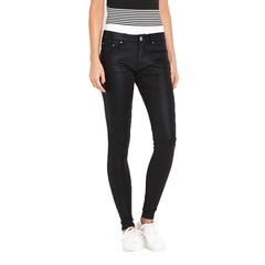Lost Ink Coated Twill Super Skinny Jeans