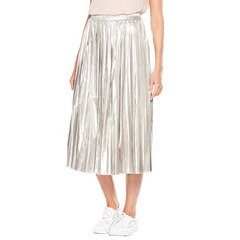V By Very Metallic Pleated Skirt
