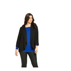 V By Very Crepe Draped Blazer