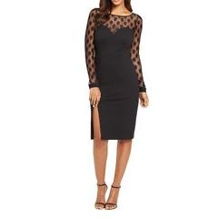 V By Very Spot Mesh Midi Dress