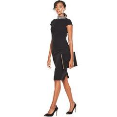 V By Very Diamante Neck Bodycon Dress