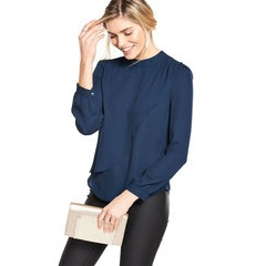 V By Very High Neck Wrap Over Blouse