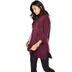V By Very Roll Neck Oversized Cape Tunic