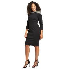 V By Very Embellished Shoulder Bodycon Dress