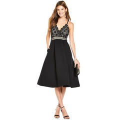 V By Very Strappy Lace Top Prom Dress