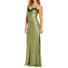 Very Lace Trim Slit Dress
