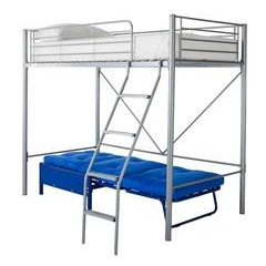 Kidspace Montana High Sleeper Bed with Futon - Single