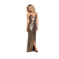 Very  Strappy Front Thigh Split Maxi Dress