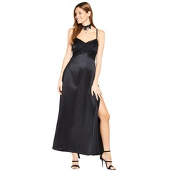 V By Very Satin And Lace Maxi Dress