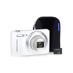 Praktica Luxmedia Z212 White Camera Kit with 16GB microSD Card & Case