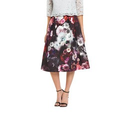 Oasis Winter Floral Midi Skirt