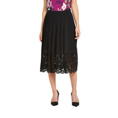 Oasis Pleated Lace Trim Skirt