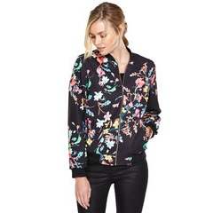 V By Very Floral Print Bomber