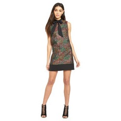 Miss Selfridge Metallic Floral Shift Dress