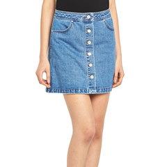 Miss Selfridge Mini Front Split  Denim Skirt