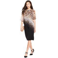 Wallis Ombre Animal Overlay Dress