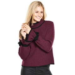 V By Very Tie Sleeve Contrast Tipping Jumper