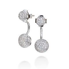 Folli Follie Sterling Silver Cubic Zirconia Sparkle Ball Earrings